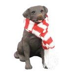 View Image 1 of Labrador Retriever Christmas Ornament - Chocolate