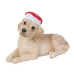 View Image 1 of Labrador Retriever With Hat Christmas Ornament - Yellow