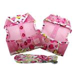 View Image 2 of Lady Bug Cool Mesh Dog Harness by Doggie Design - Pink
