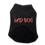 View Image 1 of Lap Dog Black Tank Top
