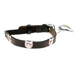 View Image 1 of Leather Cat Collar - Felix Black