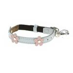 View Image 1 of Leather Cat Collar - Lucy Blue