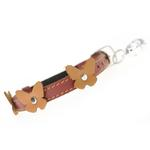 View Image 2 of Leather Cat Collar - Papillon Red