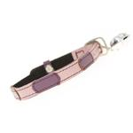 View Image 2 of Leather Cat Collar - Togo Pink