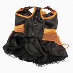 View Image 2 of LED Witch Dog Costume - Orange and Black