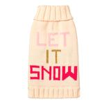 View Image 1 of Let it Snow Dog Sweater by Fab Dog - Pink