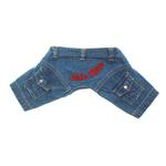 View Image 1 of 'Let's Ride' Biker Denim Dog Pants