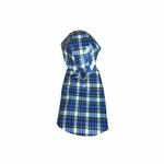 View Image 1 of Levi Plaid Dog Raincoat
