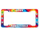 View Image 1 of License Plate Frame - Live Pawsitively