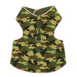 View Image 1 of Lightweight Camo Harness Vest - Green with Pink Trim