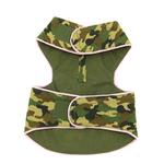 View Image 2 of Lightweight Camo Harness Vest - Green with Pink Trim