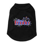 View Image 1 of Little Firecracker Dog Tank - Black