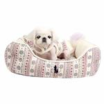 View Image 1 of Little Snow Dog Bed by Pinkaholic - Ivory