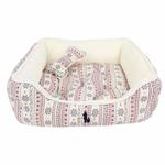 View Image 3 of Little Snow Dog Bed by Pinkaholic - Ivory