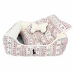 View Image 2 of Little Snow Dog Bed by Pinkaholic - Ivory