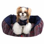 View Image 1 of Little Snow Dog Bed by Pinkaholic - Navy