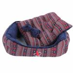 View Image 2 of Little Snow Dog Bed by Pinkaholic - Navy