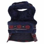View Image 2 of Little Snow Flirt Dog Harness by Pinkaholic - Navy