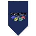 View Image 1 of London 2012 Paws Dog Bandana - Navy Blue