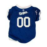 View Image 1 of Los Angeles Dodgers Baseball Dog Jersey