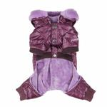 View Image 3 of Love Party Dog Jumpsuit by Pinkaholic - Purple