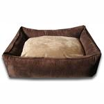 View Image 1 of Luca Lounge Dog Bed - Chocolate/Earth