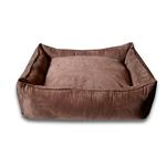 View Image 1 of Luca Lounge Dog Bed - Chocolate/Suede