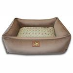 View Image 1 of Luca Lounge Dog Bed - Coco/Diamond Back