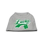 Lucky Swoosh Dog Shirt - Gray