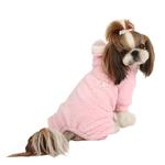 View Image 1 of Lullaby Hooded Dog Jumpsuit by Pinkaholic - Pink