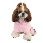 View Image 2 of Lullaby Hooded Dog Jumpsuit by Pinkaholic - Pink