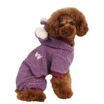View Image 1 of Lullaby Hooded Dog Jumpsuit by Pinkaholic - Purple