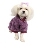 View Image 2 of Lullaby Hooded Dog Jumpsuit by Pinkaholic - Purple