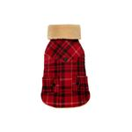 View Image 1 of Lumberjack Shearling Jacket - Red & Black