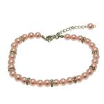 View Image 1 of Luxe Pearl Dog Necklace - Pink