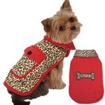 View Image 1 of M. Isaac Mizrahi Leopard Reversible Dog Coat