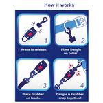 View Image 4 of MagicLatch Dog Leash Connection System - Blue