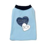 View Image 2 of Mama's Boy Dog T-Shirt by PetRageous - Blue
