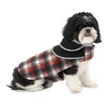 View Image 1 of Manchester Fleece Dog Coat  - Red Plaid