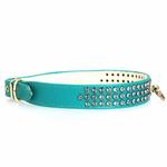 View Image 1 of Manhattan Crystal Dog Collar - Turquoise