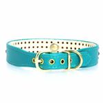View Image 2 of Manhattan Crystal Dog Collar - Turquoise