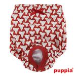 View Image 2 of Martina Dog Sanitary Panty by Puppia - Red