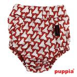 View Image 3 of Martina Dog Sanitary Panty by Puppia - Red