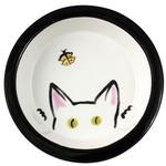 View Image 1 of Melia Cat Peek Ceramic Bowl - White