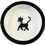 View Image 1 of Melia Cat Walking Ceramic Pet Bowl
