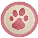 View Image 1 of Melia Paw Ceramic Pet Bowl - Pink