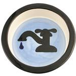 View Image 1 of Melia Water Tap Ceramic Pet Bowl - Blue Bottom
