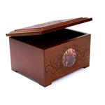 View Image 1 of Memorial Pet Urn Memory Box - Chestnut
