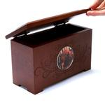 View Image 1 of Memorial Pet Urn Memory Box - Mahogany