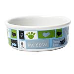 View Image 2 of Meow Flair Cat Bowl - Blue
